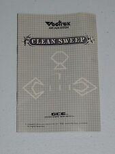 1982 VECTREX *CLEAN SWEEP* VINTAGE VIDEO GAME MANUAL