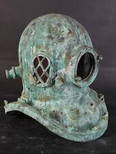 "Diving Helmet Shipwreck Finish 16"" Figure Sculpture Figurine Replica Green Large"