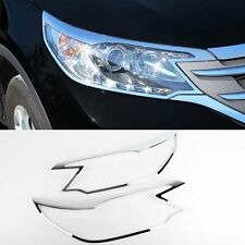 2012+ Honda CR-V Chrome HEAD Light Lamp Cover Molding Trim D-923