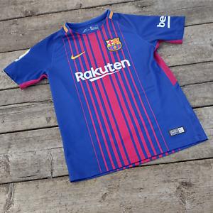 Nike Barcelona F.C Football Shirt Soccer Jersey Boys Kids Size M 10-12 Years