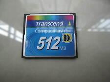 512MB Transcend Compact Flash CF 512M Memory Card  80X