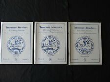 """3 1994  """"Tennessee Ancestors, Books of East Tennessee Historical Society"""""""