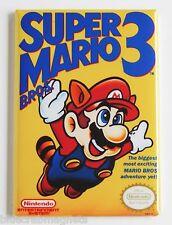 Super Mario Bros 3 FRIDGE MAGNET (2 x 3 inches) video game box nes