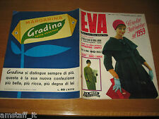 EVA=1959/3=RIVISTA MAGAZINE MODA DONNA WOMAN CUCINA ARREDAMENTO=