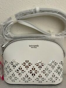 NWT Kate Spade Sylvia Perforated Small Dome Leather Crossbody Bag  PWRU7248