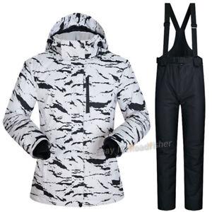 Men's Winter Ski Suit Jacket Waterproof Coat Pant Snowboard Snowsuits Outdoor Ne