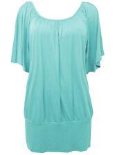 Aqua Angel Sleeve Cross Back Tunic Top Plus Size