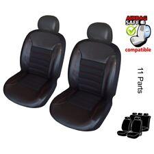 ATKKD1 - Kunstleder Auto Sitzbezug Set Sitzschoner Bezug Schoner Schwarz / Rot