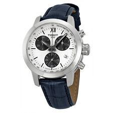Tissot PRC200 Chronograph White Dial  Black Leather Mens Watch T0552171603800-AU