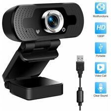 Webcam 1080P Full HD USB Cámara de Video Web Cam con Micrófono PC Ordenador Chat