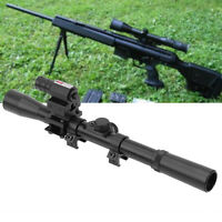 Tactics Air Rifle 4x20 Optic Scope W/ Red Dot Sight for Rail Mount AF