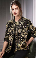 Together From Kaleidoscope Black Gold Floral Bomber Jacket New Size 8 Was £65