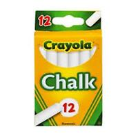 Crayola White Chalk, 12 Ct. (1 Case of 12)