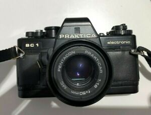 PRAKTICA SC1 electronic 35mm SLR Vintage Camera with lens. Good condition.