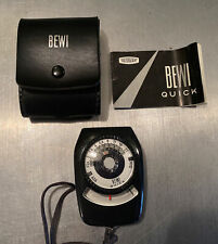 Bewi Quick Light Meter in Leather case with manual.