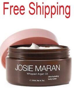 Josie Maran Whipped Argan Oil Hydrating Body Butter Giving Vanilla Fig 8oz
