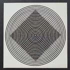 """Victor Vasarely """"Beta"""" Mounted b/w Offset Lithograph 1971"""