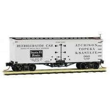 AT&SF Santa Fe Route 36' Wood Sheated Ice Reefer Car MTL #058 00 380 N-Scale