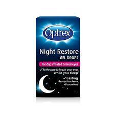 10ml Optrex Night Restore Gel Drops Preservative free Dry Tired Eyes NEW
