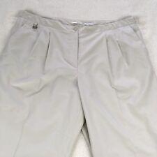 Liz Claiborne Lizgolf Kylie Pants Cropped Capris Pants Size 22W Ivory Pleated