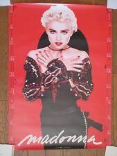 Madonna Japan Warner-Pioneer Not For Sale Promo 2 Sided Poster w/ 1988 Calendar