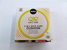 Nivea Visage Q10 Plus fondotinta 3in1 skin care Cushion spf15 n.01 light medium