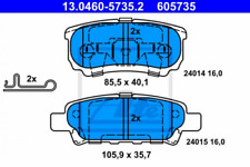 Bremsbelagsatz, Scheibenbremse für Bremsanlage Hinterachse ATE 13.0460-5735.2