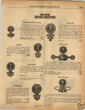1925 PAPER AD 4 PG Boyce Moto Meter Schlaich Loxrite Lock Radiator Cap Standard