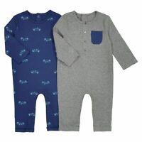 La redoute collection - 2 combinaisons Gris + Bleu - Taille 12 mois - NEUF