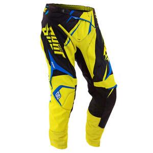 Shot Flexor Contatto Edge Motocross MX Pantaloni - Hyper Giallo Neon / Blu
