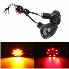 Pair 12V Amber LED Turn Signal Indicator Light M8 Bolt for Motors Custom Harley