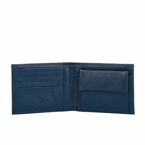 Nuvola Pelle Slim Mens Wallet Bifold in Genuine Nappa Leather with Coin Pocket a
