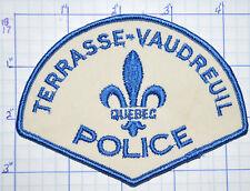 CANADA, TERRASSE-VAUDREUIL POLICE DEPT QUEBEC PATCH