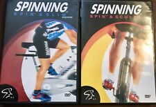LOT OF 2 SPIN FITNESS SPINNING DVDS ~ EXC COND!   MUST SEE!