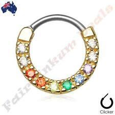 Nose Cubic Zirconia 14g (1.6 mm) Thickness Gauge Body Piercing Jewellery