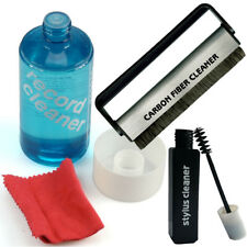 Record Cleaning Kit - Brush with LP Vinyl Cleaner Fluid inc cloth, Stylus Fluid
