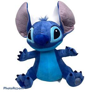 Disney Store Stitch Blue Alien Plush 15 inch with Ears Up Genuine Stuffed Animal