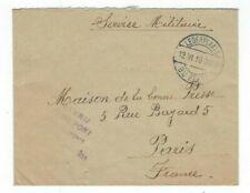1916 Legerplaats bij Zeist Netherlands WWI Military Censored to Paris France