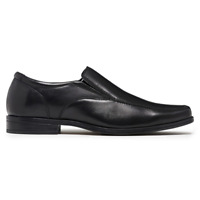 Mens Julius Marlow London Leather Black Slip On Dress Formal Work Comfort Shoes