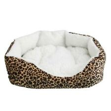 Soft Cotton Pet Dog Puppy Warm Waterloo Bed Nest with Pad Size S Leopard Print