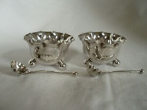 PR BOWLS & SPOONS VICTORIAN STERLING SILVER LONDON 1888