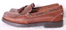 G.H. Bass Flex Futures Brown Leather Kiltie Moc Slip-On Boat Shoe Men's US 9.5M