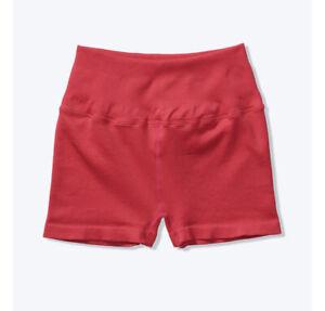 Victoria Secret PINK Shorts Womens Spiritual Gangster High Waist Cherry Red M/L