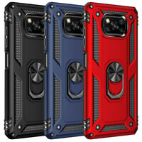 For Xiaomi Poco X3 NFC Poco F2 Pro Shockproof Case Ring Kickstand Hard Cover