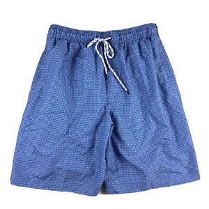 Nat Nast Mens Size Small Blue Patterned Mesh Lined Swim Trunks Board Shorts. KD