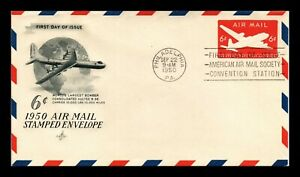 DR JIM STAMPS US 6C EMBOSSED AIR MAIL UNSEALED FDC POSTAL STATIONERY COVER