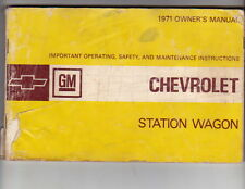 """1971 CHEVROLET 116"""" & 125"""" WAGON US Owners Manual - Fair Condition"""