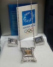 Set of 3  Necklace & Earrings 925 Athens 2004 Olympic Games Supporting Product