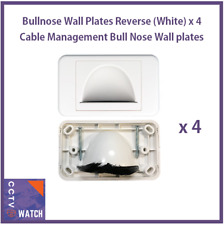 Bullnose Wall Plates Reverse (White) x4 Cable Management Bull Nose Wall plate