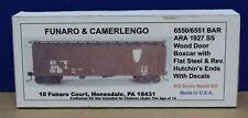 Funaro & Camerlengo 6550/6551 HO BAR ARA 1927 SS Boxcar Kit Resin NIB